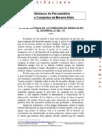 La Importancia de La Formación de Símbolos en El Desarrollo Del Yo .