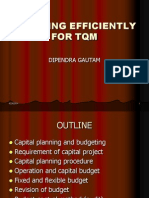 Planning Efficiently for TQM