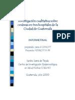 Investigación Cualitativa Sobre Cesáreas en Tres Hospitales en Guatemala