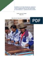 Financial Crisis and Migration Huehuetenango