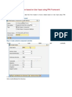 Sales Data Flow Based on User Input Using FPM Framework