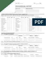 sample checklist biopsychosocial form
