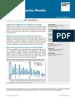 Global Economics Equity Valuations 2014 Jun 25 GS