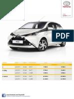 Toyota Aygo - Štandardný Cenník Jún 2014