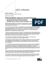 140630 Guy - Planning Minister Approves the East West Link