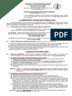 Form-Instructions for Freshmen 2014-2015