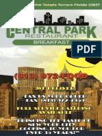 central park 2 breakfast menu