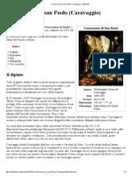 Conversione Di San Paolo (Caravaggio) - Wikipedia