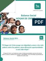 Balance Social Hogar de Cristo 20112