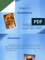 UNIDAD II PENSAMIENTO