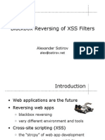 Blackbox Reversing of Xss Filters Slides