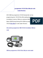 2014 SBB key programmer V33.02 Silca Sbb pin code reader Reviews