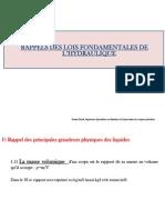 Les Lois Fondamentales de l'Hydraulique (1)