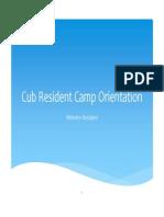 Cub Resident Camp Webelos Leaders Meeting