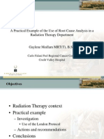 A Practical Example of the Use of Root Cause Analysis in a Radiation Therapy Department