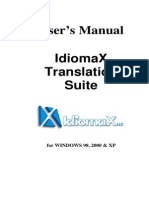IdiomaX Translation Suite - Manual