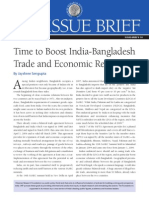 Bangladesh- India Relation > Time to boost up India Bangladesh Trade