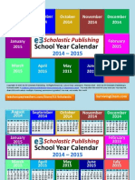 Interactive School Year Calendar 2014-2015