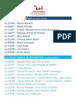 Estivales de Chimay - Programme 2014