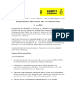 Amnesty International India Submission on Media Laws (With Summary)