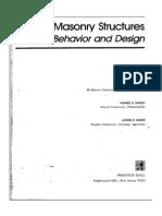 Masonry Structures - Behaviour and Design