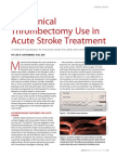 Thrombectomy in Acute Stroke