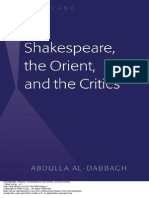 Shakespeare the Orient and the Critics 1 to 60