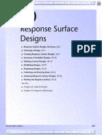 Response Surface Design in Minitab