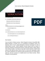 MBA Project Report of Distance Learning - Bharati Vidyapeeth University