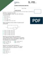 Examen de Verificación Semestral de Matematica IV