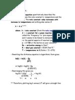 Kin - Arrhenius Equation Notes