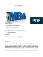 MBA Project Report of DY Patil Distance MBA