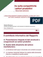 Competitività Dei Settori Produttivi - 26_feb_2014 - Presentazione
