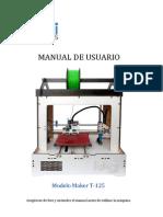 Manual de Usuario Modelo Maker T-125