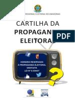 Tre Am Cartilha Da Propaganda Eleitoral 2014