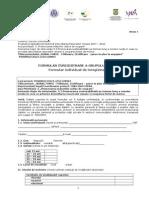 Formular de Inregistrare a Grupului Tinta