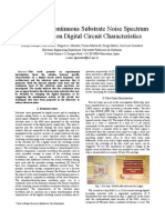 #Discrete and continuous substrate noise spectrum dependence on digital circuit characteristics