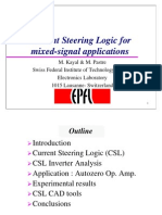urrent Steering Logic for Mixed-Signal Applications