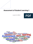 assessment of student learning introduction june 9