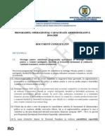 Programul Op Capacitate Administrativa 2014-2020 - Martie 2014