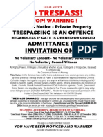 Private Property Sign Vb Australia Qld