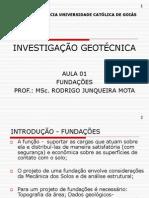 Investigação Geotécnica - Aula 01
