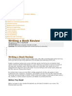 Wrtting a Book Review