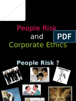 People Risk and Corporate Ethics