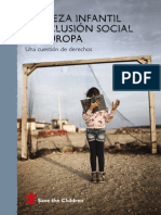 Informe Save the Children Pobreza Infantil Exclusion Social Europa