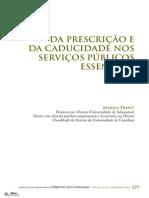 Da Prescrição e Da Caducidade Nos Serviços Públicos Essenciais