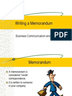 Writing a Memorandum