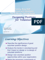 1Designing Positions for Volunteers