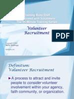 2Volunteer Recruitment