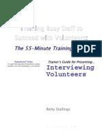 3TG Interviewing Volunteers